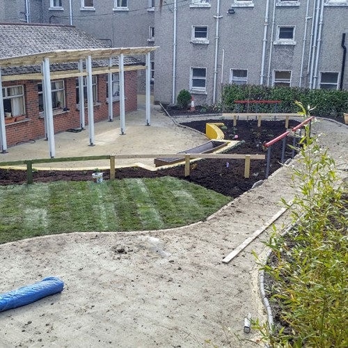 Construction of the Dementia Friendly Garden