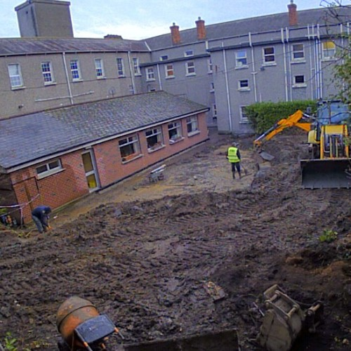 Construction of the Dementia Friendly Garden