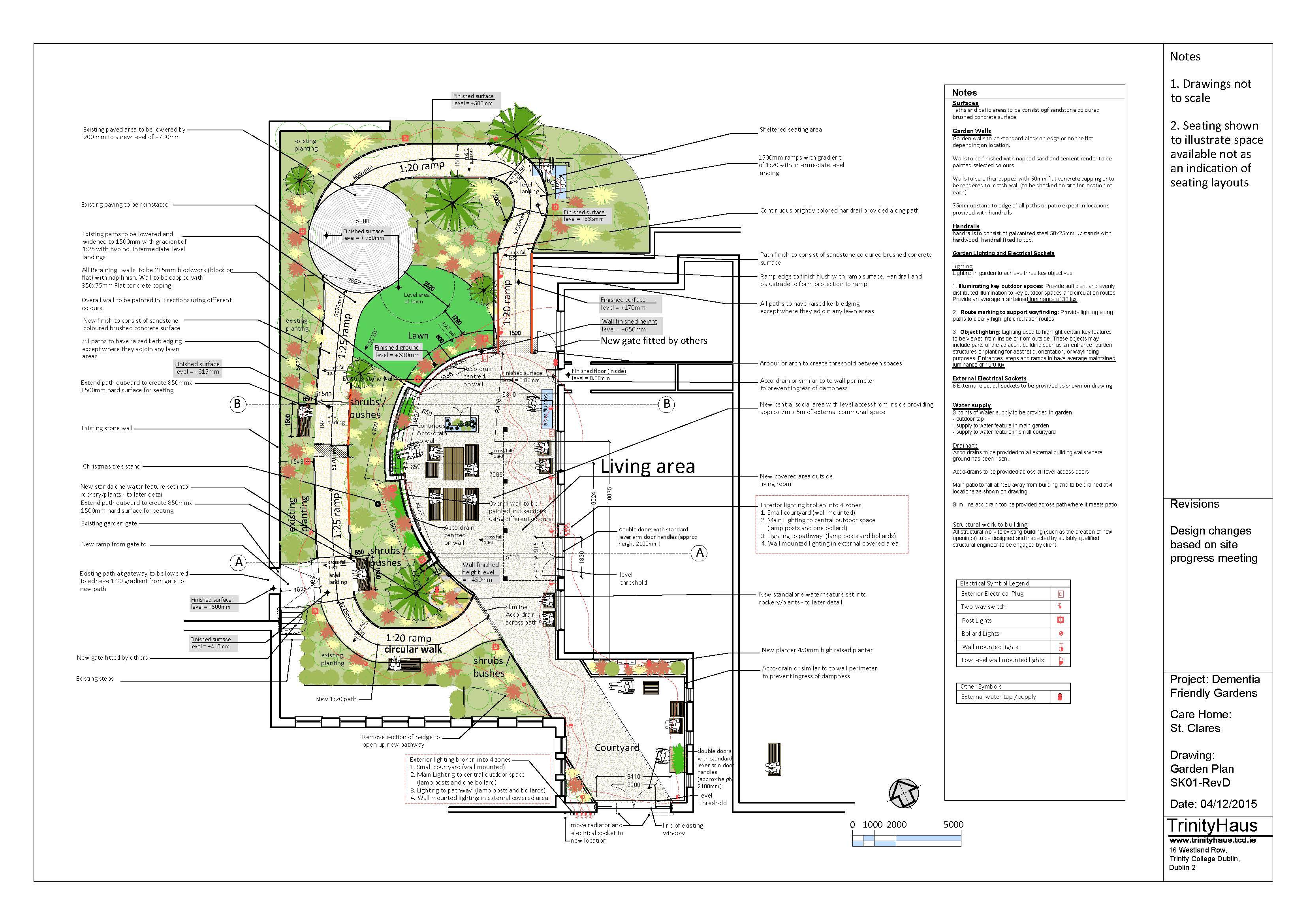 Sample Dementia Friendly Garden Plan Newtown Saunders Ltd